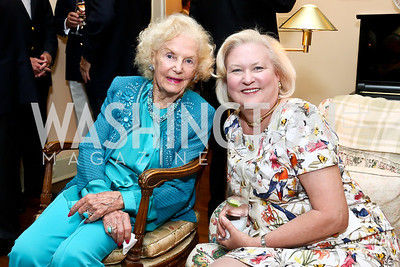 Ruth Buchanan, Diana Prince. Photo by Tony Powell. Newport Society Party. Prince Residence. May 13, 2014