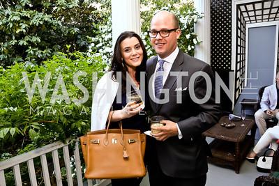 Jaclyn Mason, Sean Randall. Photo by Tony Powell. Newport Society Party. Prince Residence. May 13, 2014