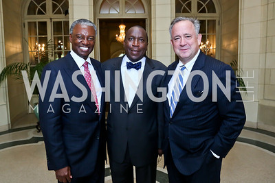 Art Collins, Alonzo Fulgham, Christopher Burnham. Photo by Tony Powell. Past Forward Opening. Meridian. May 21, 2014