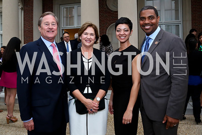 Governor Jim  Blanchard and Janet Blanchard, Sonya Horsford and Rep. Steven Horsford. Photo by Tony Powell. Past Forward Opening. Meridian. May 21, 2014