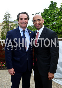Stuart Holliday, UAE Amb. Yousef Al Otaiba. Photo by Tony Powell. Past Forward Opening. Meridian. May 21, 2014