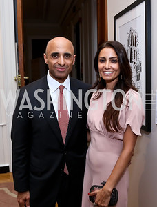 UAE Amb. Yousef Al Otaiba and Abeer Al Otaiba. Photo by Tony Powell. Past Forward Opening. Meridian. May 21, 2014