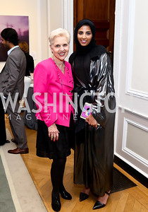 Jan Du Plain, Maitha Al Mehairbi. Photo by Tony Powell. Past Forward Opening. Meridian. May 21, 2014