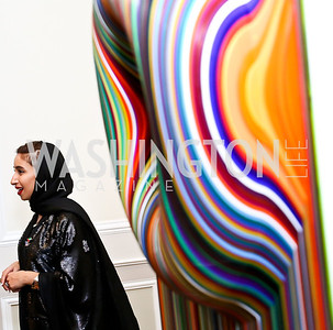 Artist Zeinab Al Hashemi. Photo by Tony Powell. Past Forward Opening. Meridian. May 21, 2014