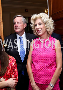 Rep. Mark Meadows and Debbie Meadows. Photo by Tony Powell. Past Forward Opening. Meridian. May 21, 2014