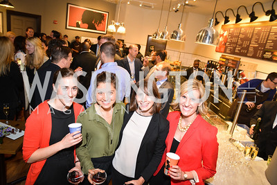 Erin Dick, Jessica Mann, Hadley Malcolm, Hayden Perry, Peet's Coffee & Tea VIP Launch Party, Wednesday, April 30th, 2014, 1701 Pennsylvania Avenue NW.  Photo by Ben Droz.