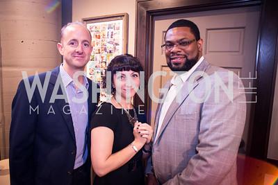 Bill Donovan, Jennifer Stiles, Anthony Wilson, Peet's Coffee & Tea VIP Launch Party, Wednesday, April 30th, 2014, 1701 Pennsylvania Avenue NW.  Photo by Ben Droz.
