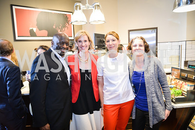 Jeff Ballou, Hayden Perry, Sasha Macomber, Trish Davis, Peet's Coffee & Tea VIP Launch Party, Wednesday, April 30th, 2014, 1701 Pennsylvania Avenue NW.  Photo by Ben Droz.