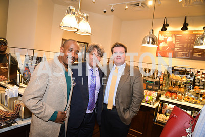 Patrick McCoy, Alan Behar, John McCarthy, Peet's Coffee & Tea VIP Launch Party, Wednesday, April 30th, 2014, 1701 Pennsylvania Avenue NW.  Photo by Ben Droz.