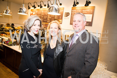 Heather Podesta, Debbie Kristofferson, Michael Williams, Peet's Coffee & Tea VIP Launch Party, Wednesday, April 30th, 2014, 1701 Pennsylvania Avenue NW.  Photo by Ben Droz.