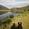 Shadow photography on Seward Highway, Alaska.