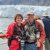 Gary and I on our Holland America Cruise in Glacier Bay.