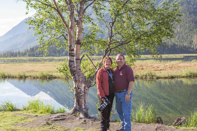 Gary and I at Tern Lake, on Seward Highway.