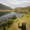 Shadow photography at Tern Lake on Seward Highway.
