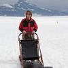 Dog sledding on Norris Glacier outside of Juneau, Alaska.