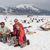 Gary and I with Jeff, our musher on Norris Glaciers.
