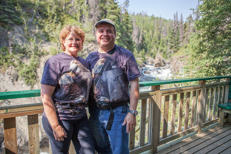 Gary and I at Million Dollar Falls in the Yukon.