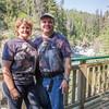 Gary and I at Million Dollar Falls in the Yukon.