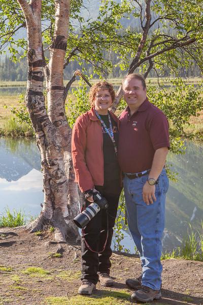 Gary and I at Tern Lake on Seward Highway.