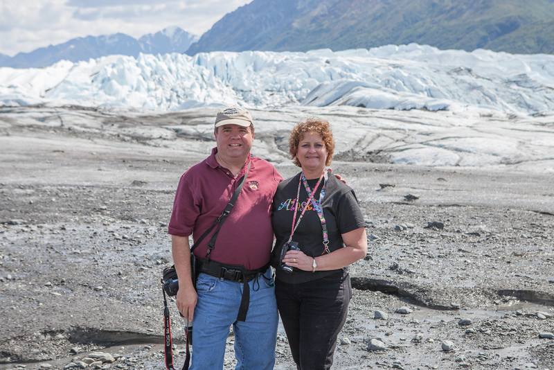 Gary and I in front of Matanuska Glacier outside of Palmer, Alaska.
