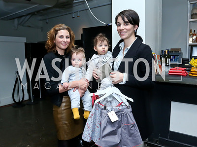 Caroline and Emerson Wee, Arlo and Emily Bove. Photo by Tony Powell. Petite Lucette Launch. Malmaison. March 21, 2014