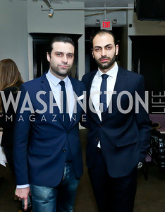 Renaud de Viel Castel, Omar Popal. Photo by Tony Powell. Petite Lucette Launch. Malmaison. March 21, 2014