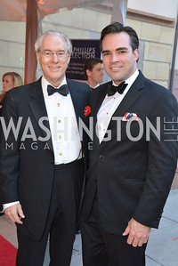 George Vradenburg, Carl Bedell, 2014 Annual Phillips Collection Gala, Friday May 16, 2014, Photo by Ben Droz