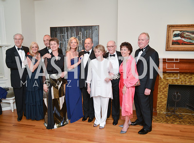 George Vradenburg, Trish Vradenburg, Thomas Krähenbühl, Dorothy Kosinski, Mariella Trager, Michael Trager, Linda Kaplan, Dr. Louis D. Kaplan, Vicki Tanner, and Bruce Tanner, 2014 Annual Phillips Collection Gala, Friday May 16, 2014, Photo by Ben Droz