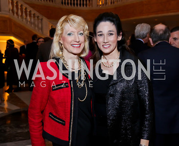 Dr. Joyce Hagel, Dr. Suzanne Doud Galli. Photo by Tony Powell. Picturing Mary Opening. NMWA. December 4, 2014