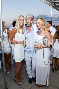 Lauren Cicala, Carl Easton, Noelle Welch. Photo by Tony Powell. Pierre Garçon's 2nd annual All-White Charity Event. Millenium building rooftop. June 5, 2014