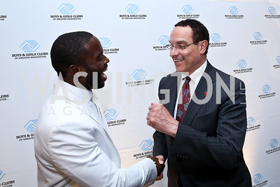 Pierre Garçon, Mayor Vincent Gray. Photo by Tony Powell. Pierre Garçon's 2nd annual All-White Charity Event. Millenium building rooftop. June 5, 2014