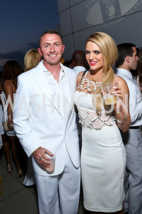 Washington Redskins Kicker Kai Forbath, Kyla Felling. Photo by Tony Powell. Pierre Garçon's 2nd annual All-White Charity Event. Millenium building rooftop. June 5, 2014