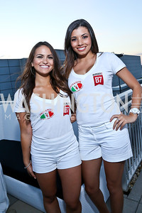 Natasha Hashemi, Alexis Blackwell. Photo by Tony Powell. Pierre Garçon's 2nd annual All-White Charity Event. Millenium building rooftop. June 5, 2014