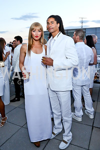 Leigh Daily, Frank Neely. Photo by Tony Powell. Pierre Garçon's 2nd annual All-White Charity Event. Millenium building rooftop. June 5, 2014