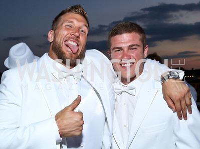 Washington Redskins Long Snapper Kyle Nelson, Washington Redskins Kicker Zach Hocker. Photo by Tony Powell. Pierre Garçon's 2nd annual All-White Charity Event. Millenium building rooftop. June 5, 2014