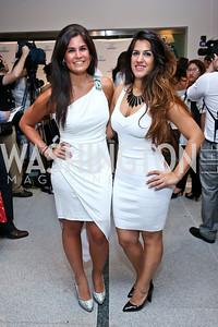 Maha Hakki and Dannia Hakki. Photo by Tony Powell. Pierre Garçon's 2nd annual All-White Charity Event. Millenium building rooftop. June 5, 2014