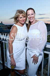 Wendy Rieger, Laura Metro. Photo by Tony Powell. Pierre Garçon's 2nd annual All-White Charity Event. Millenium building rooftop. June 5, 2014