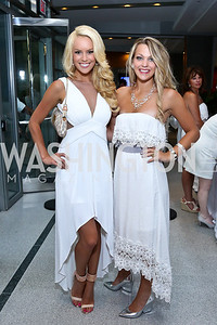 Britt McHenry, Alexandra Yeager. Photo by Tony Powell. Pierre Garçon's 2nd annual All-White Charity Event. Millenium building rooftop. June 5, 2014