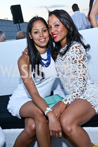 Elodie Manuel, Anaise Manuel. Photo by Tony Powell. Pierre Garçon's 2nd annual All-White Charity Event. Millenium building rooftop. June 5, 2014