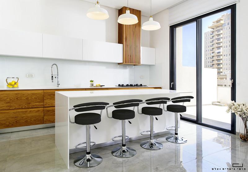 צילום אדריכלות: מטבל של חברת פופלר מטבחים ונגרות. אדריכלות: אלמוג דנינו