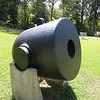 This 13 inch mortar weighs 17,000 lbs and fired shells weighing 200 lbs. They were often mounted on boats or barges. This one was likely used by the Union in the siege of Vicksburg