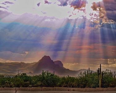 Sombrero Peak, Tucson Mountains, Arizona, Enhanced