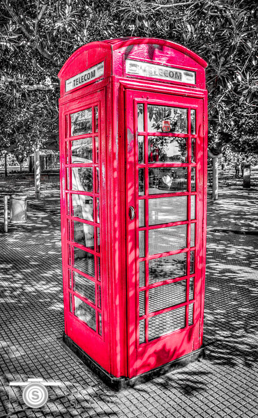 Little Red Booth Monochrome