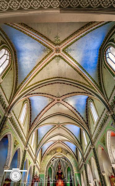 Beautiful ceilings in the main chapel.