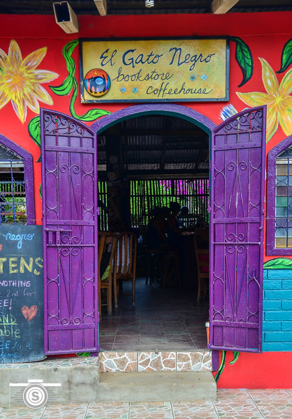 A great little coffee shop and bookstore in the heart of San Juan del Sur. San Juan del Sur, Nicaragua is a small surfing town Southwest of Granada by approximately 60 miles on the Pacific Ocean. The El gato Negro is a hidden gem in the small surfing haven.