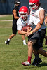 The Hinsdale Central High School varsity football team plays a 7 on 7 matchup at Nazareth.  (Daniel White photo).