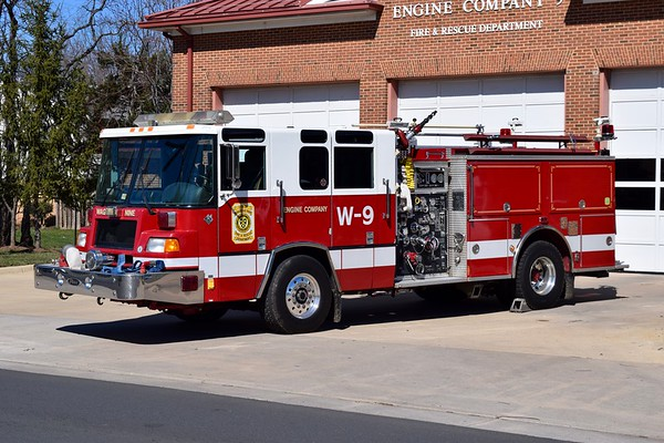 Manassas Park's reserve/training engine is this 1996 Pierce Quantum, 1500/500/40, sn- EA262.  Formerly ran as Wagon 9.
