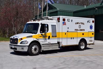 Ambulance 512 is a 2006 Freightliner M2/Horton.