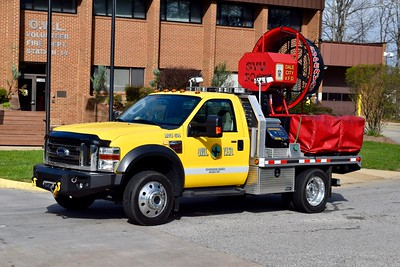Mobile Ventilation Unit 514 is a joint purchase between the OWL and Dale City Fire Departments.  MVU514 is a 2009 Ford F-450/SuperVac.  The truck was purchased by OWL and the fan purchased by Dale City.