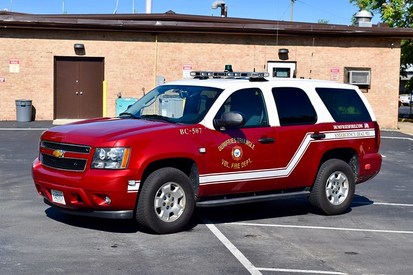 Battalion Chief 507's 2014 Chevy Tahoe.   BC507 is staffed by Dumfries Fire volunteers and primarily covers stations 3, 17, and 23.